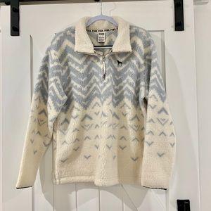 Victoria Secrets Pink Fleece 1/4 Zip Pullover